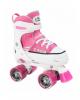 Раздвижные ролики-квады Hudora Roller Skate розовые