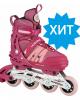 Раздвижные роликовые коньки Hudora Inline Skates Comfort розовые