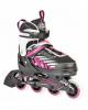 Раздвижные роликовые коньки Hudora Mia розовые