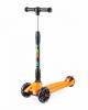 Самокат Trolo Rapid со складной ручкой и светящимися колёсами 120 и 100 мм оранжевый (141605)