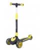 Самокат Tech Team Buggy 2021 со светящимися колёсами 120 и 90 мм чёрно-жёлтый