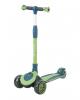 Самокат Tech Team Buggy 2021 со светящимися колёсами 120 и 90 мм зелёный