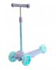 Самокат Tech Team Lambo 2020 со светящимися колёсами 120 и 100 мм фиолетово-голубой